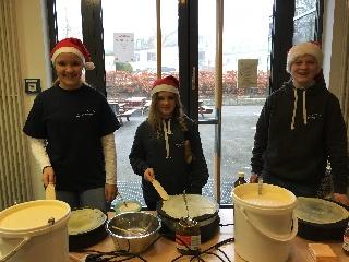 Dank an die Crepe-Bäcker Lucy, Leonie und Nicolas
